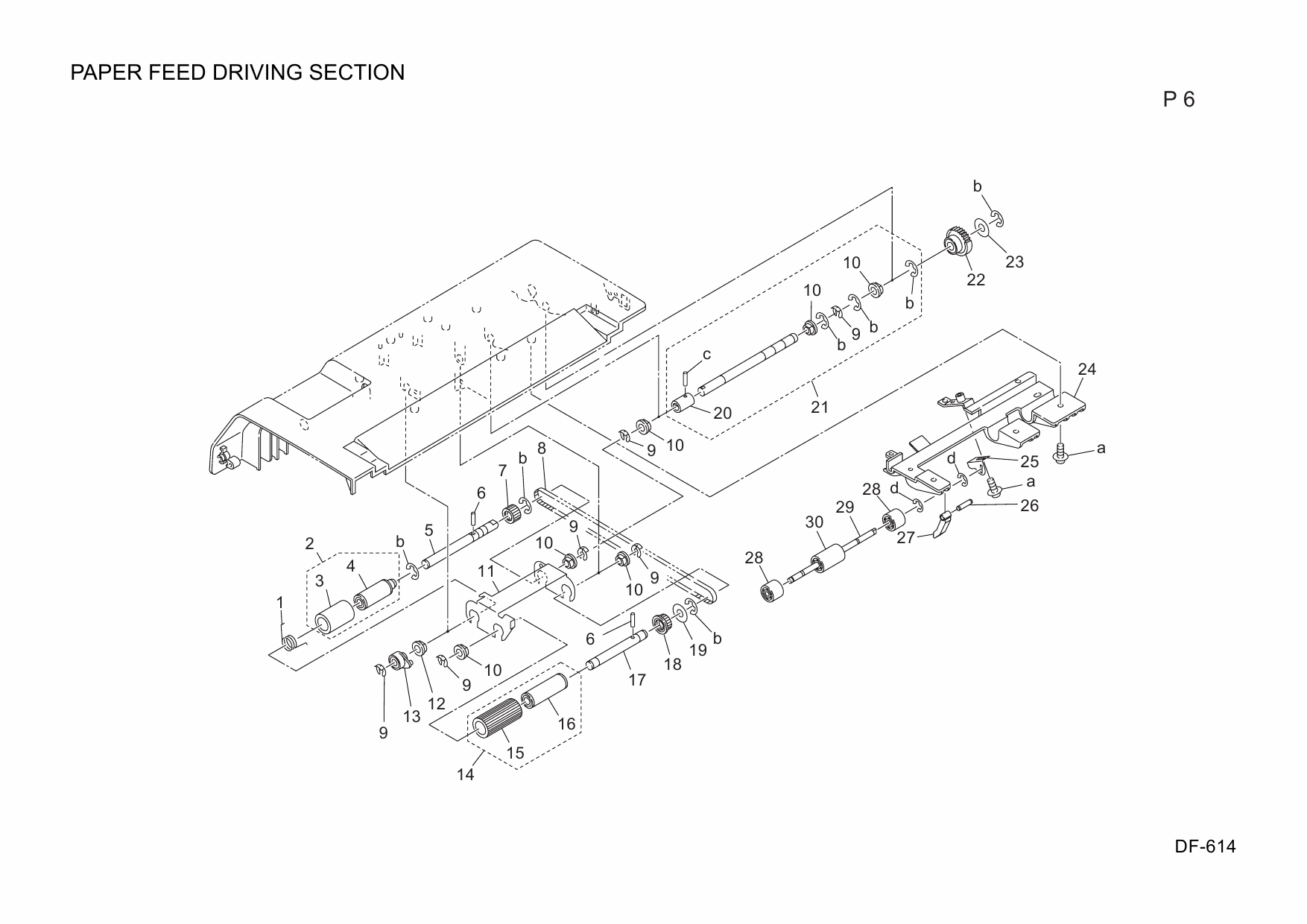 Konica-Minolta Options DF-614 A0R4 Parts Manual